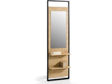 Miroir dressing 2 étagères HIBA LA REDOUTE INTERIEURS Bois/Métal