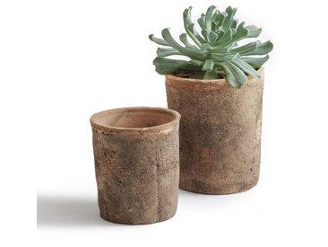 Cache-pots en terre cuite, Terro (lot de 2) LA REDOUTE INTERIEURS Terracotta