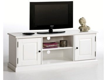 Banc TV, pin massif, Authentic Style LA REDOUTE INTERIEURS Blanc