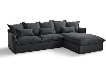 Canapé d'angle fixe en coton/lin, Odna Bultex LA REDOUTE INTERIEURS Gris Anthracite