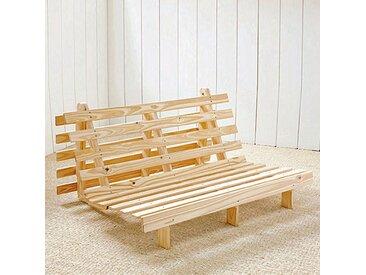 Banquette futon, 4 positions THAÏ LA REDOUTE INTERIEURS Bois Clair Brut À Peindre