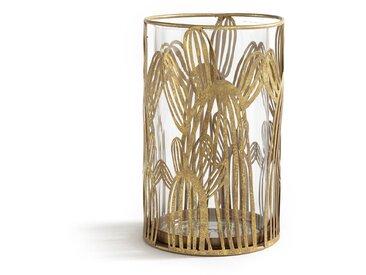 Photophore cactus en verre et métal, DORIO LA REDOUTE INTERIEURS Laiton