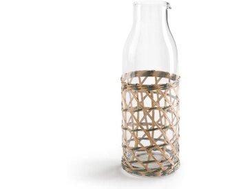 Carafe à eau en verre et tressage QUALIMNA LA REDOUTE INTERIEURS Transparent