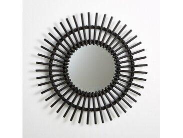 Miroir rotin forme soleil vintage, Nogu LA REDOUTE INTERIEURS Noir
