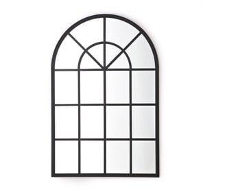 Miroir industriel fenêtre Lenaig LA REDOUTE INTERIEURS Noir