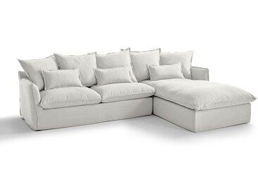Canapé angle convertible coton/lin Bultex, ODNA LA REDOUTE INTERIEURS Blanc