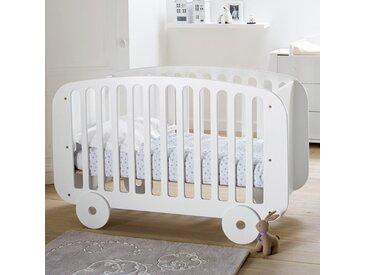 Lit bébé roulotte Sun LA REDOUTE INTERIEURS Blanc