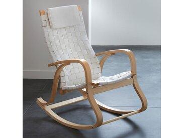 Rocking chair, design, Jimi LA REDOUTE INTERIEURS Blanc