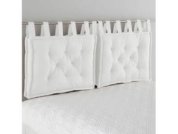 Tête de lit matelassée pur coton SCENARIO LA REDOUTE INTERIEURS Blanc