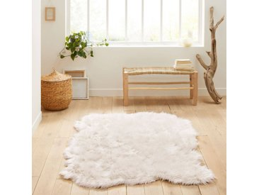 Tapis effet peau de mouton Livio, 135 x 190 cm LA REDOUTE INTERIEURS Blanc