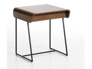 Chevet 1 tiroir Bardi, design E. Gallina AM.PM Noyer Pieds Noirs