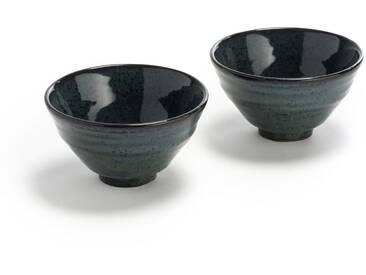 2 bols en terre cuite, petit modèle, Amiko AM.PM Bleu Nuit