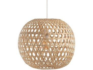 Suspension boule bambou, CORDO LA REDOUTE INTERIEURS Naturel