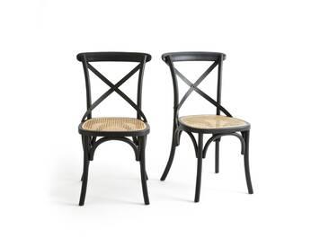 Chaise dos croisé Cedak (lot de 2) LA REDOUTE INTERIEURS Noir