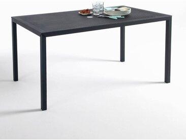 Table rectangulaire en métal perforé, Choe LA REDOUTE INTERIEURS Noir Mat