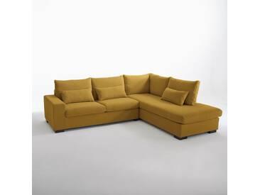 Canapé d'angle Odessa, coton & lin LA REDOUTE INTERIEURS Jaune Moutarde