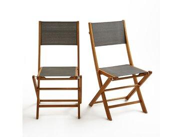 Chaise de jardin pliante (lot de 2), Exodor LA REDOUTE INTERIEURS Gris Anthracite