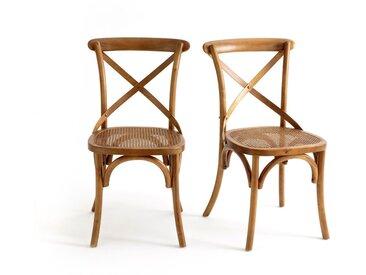 Chaise dos croisé Cedak (lot de 2) LA REDOUTE INTERIEURS Noyer