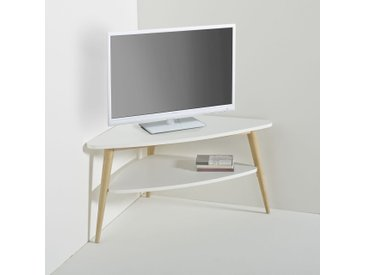 Meuble TV d'angle vintage double plateau, Jimi LA REDOUTE INTERIEURS Blanc