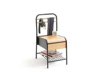 Chaise avec tiroir de rangement, HIBA LA REDOUTE INTERIEURS Bois/Métal