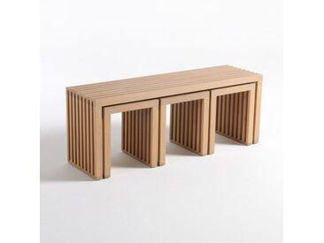 Ensemble de jardin encastrable, 4 pièces Amalia LA REDOUTE INTERIEURS Chêne