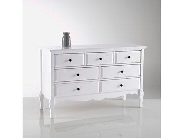 Commode basse 7 tiroirs, Lison LA REDOUTE INTERIEURS Blanc