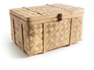 Malle artisanale en bambou tressé, Bathilda AM.PM Bambou