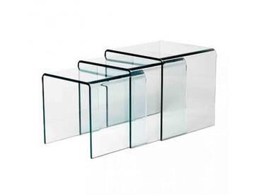 Table Gigogne Verre Design