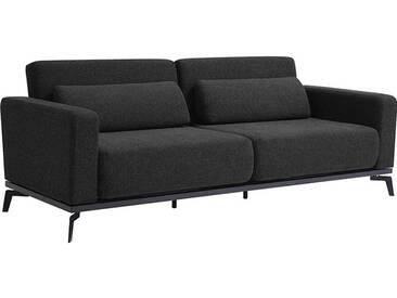 Canapé Convertible Lit Noir / Gris Anthracite 213 cm OMLAM