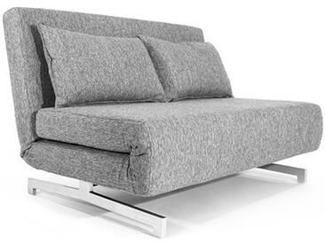 Canapé Convertible Design Tissu Gris - 120 cm