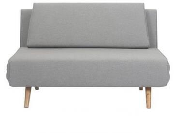 Canapé Convertible Design Elliot Gris Clair Pietement Bois