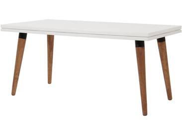 Table Basse Rectangle Blanche en Bois 100 cm DTOP
