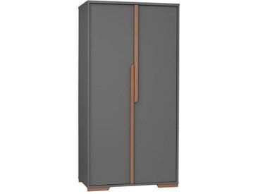 Armoire 2 portes noire collection Snap - Noir -