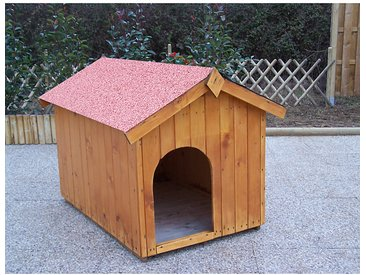 Niche Bois pour chien moyen - HABRITA