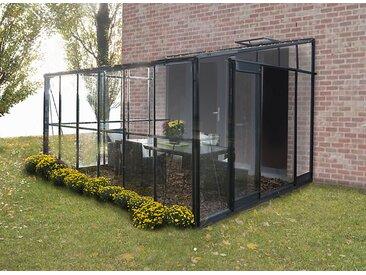 Serre jardin verre trempé anthracite SOLARIUM - 7,22 m²
