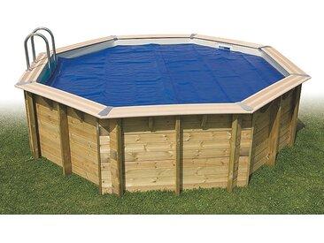 Bâche à bulles été pour piscine octogonale 300 x 490 cm