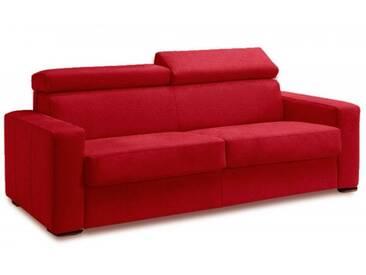 Canapé convertible à ouverture express en tissu microfibre 3 places - lit 140 cm Rouge - Tissu microfibre