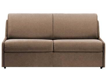 Canapé lit gain de place sans accoudoir 3 places - lit 140 cm Beige - Tissu coton