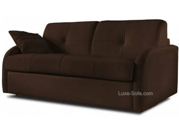 Canapé lit convertible en cuir pour couchage quotidien Marron - Cuir deluxe 3 places - lit 140 cm