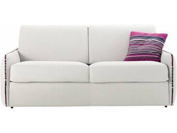 Petit canapé lit en tissu à ouverture rapido 3 places - lit 140 cm A02 - tissu fili crème