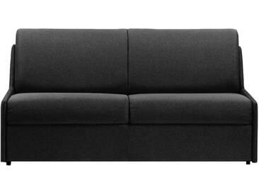 Canapé lit gain de place sans accoudoir 3 places - lit 140 cm Gris anthracite - Tissu coton