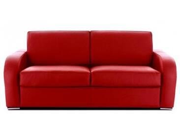 Canapé cuir haut de gamme italien Rouge - Cuir deluxe 3 places