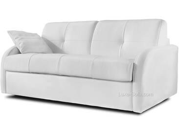 Canapé lit convertible en cuir pour couchage quotidien