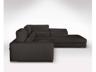 Grand canapé dangle avec méridienne en cuir haut de gamme