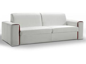 Canapé lit quotidien en cuir Lampolet sur matelas 18 cm