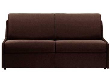 Canapé lit gain de place sans accoudoir 3 places - lit 140 cm Marron - Tissu coton