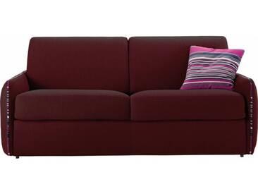 Petit canapé lit en tissu à ouverture rapido 3 places - lit 140 cm A07 - tissu fili bordeaux