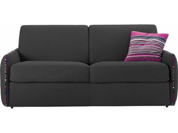 Petit canapé lit en tissu à ouverture rapido 3 places - lit 140 cm A11 - tissu fili gris anthracite