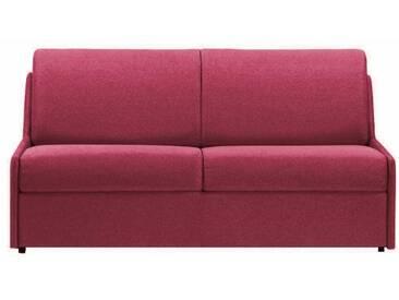Canapé lit gain de place sans accoudoir 3 places - lit 140 cm Bordeaux - Tissu coton