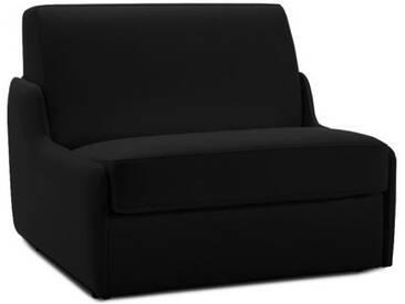 Fauteuil lit en cuir sans accoudoir 1 place - lit 75 cm Noir - Cuir deluxe